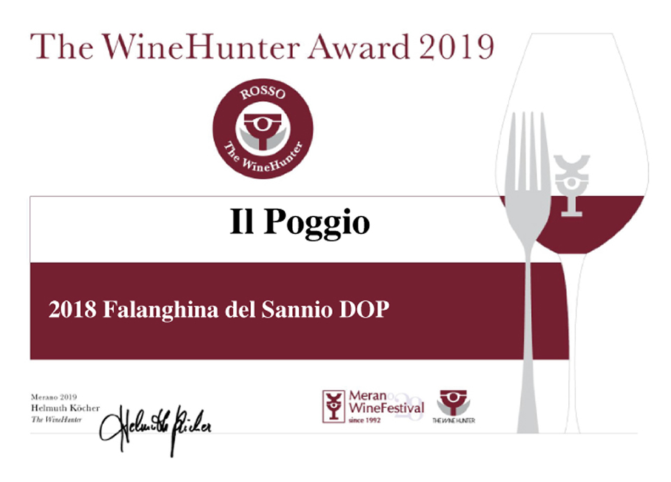 The WineHunter Awards Falanghina Del Sannio DOP 2018