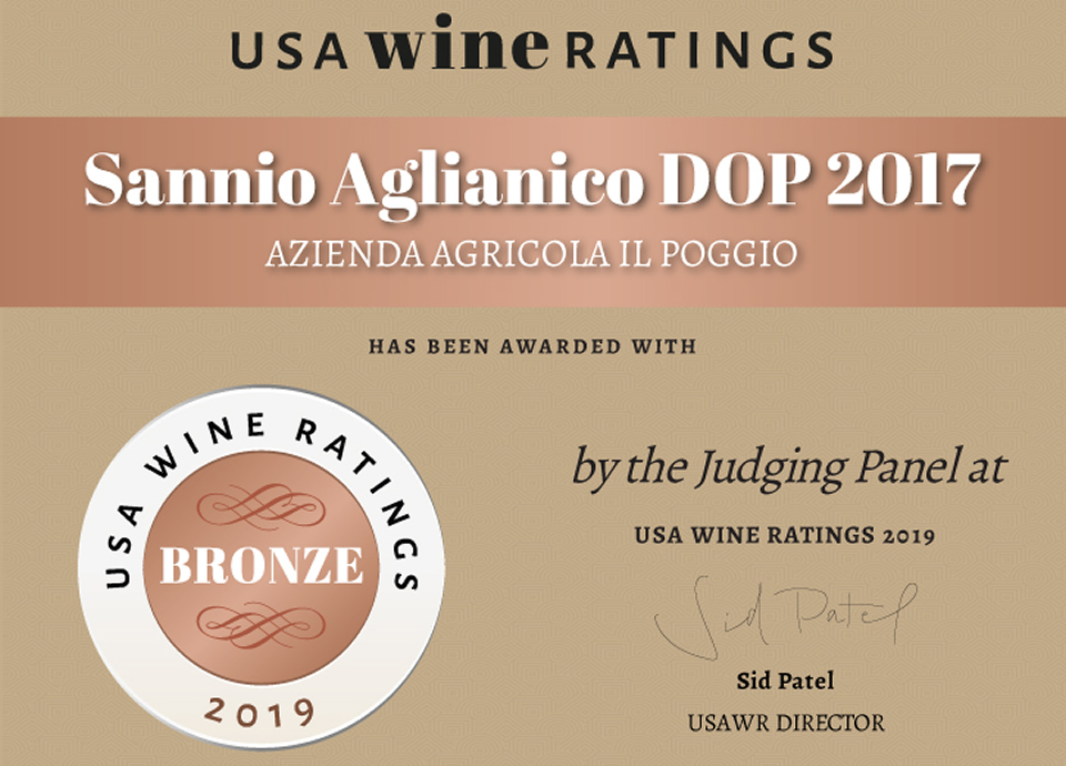 USA WINE RATING Sannio Aglianico DOP 2017